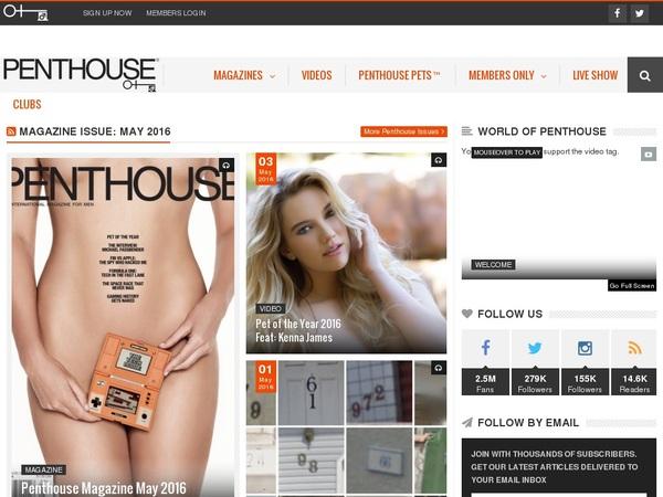 Daily Penthouse.com Accounts