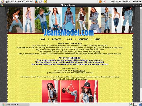 Jeans Model Website Password