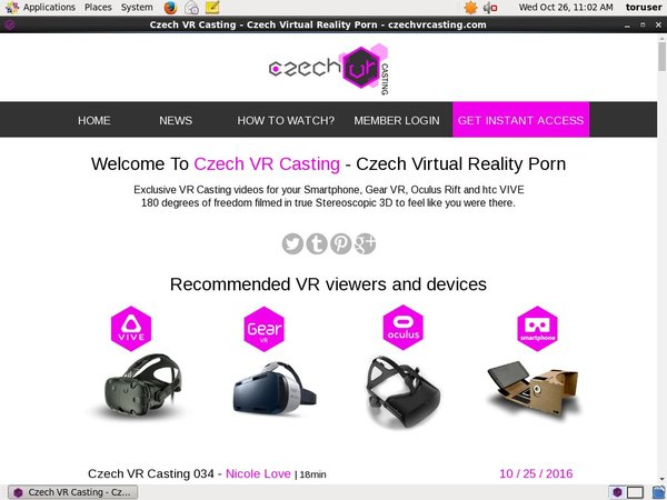 Login For Czech VR Casting