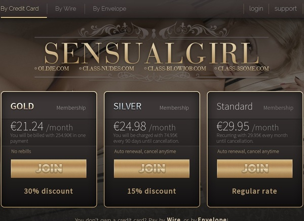 Sensualgirl.com Renew Password