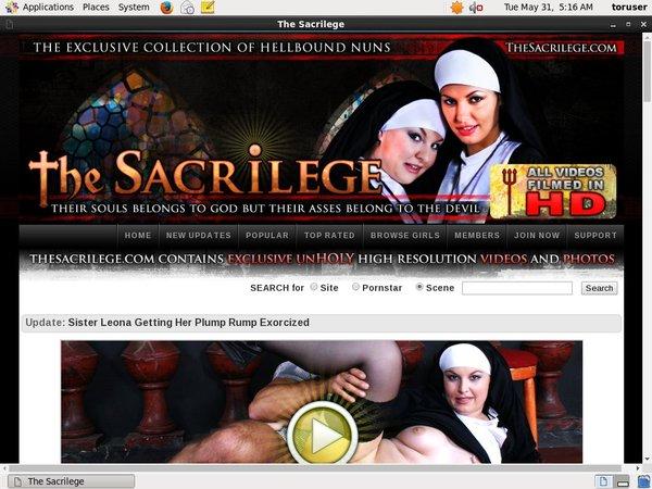 The Sacrilege Probiller