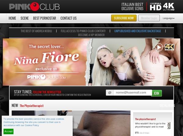 Pinkoclub.com Access