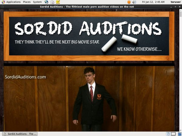 How To Get Free Sordid Auditions Accounts